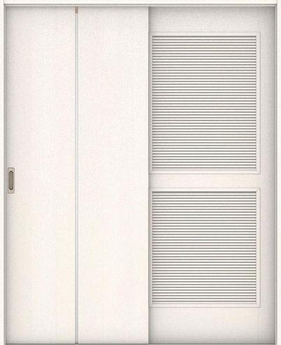 ハピアベイシス 通気引戸 G7デザイン扉セット  錠なし・明かり窓なし ネオホワイト 大建工業の建具