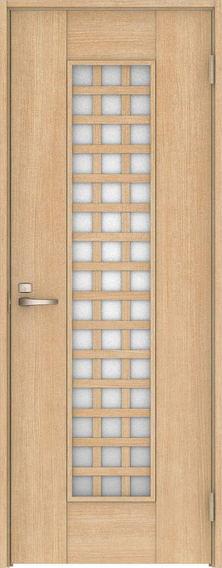 ハピア 片開きドア 79デザイン扉セット 2000高 ミルベージュ 鍵付き 大建工業の建具