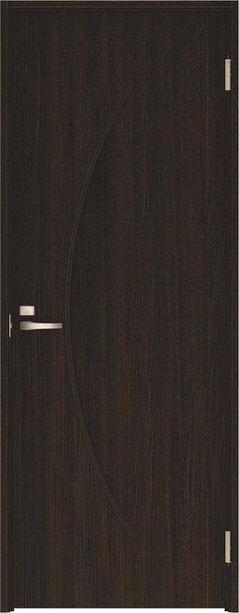 ハピアベイシス 片開きドア S7デザイン扉セット 2000高 オフブラック 鍵付き 大建工業の建具