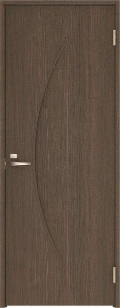 ハピアベイシス 片開きドア S7デザイン扉セット 2000高 ダルブラウン 鍵付き 大建工業の建具