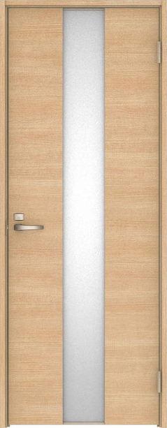 ハピア 片開きドア Y5デザイン扉セット 2000高 ミルベージュ 鍵付き 大建工業の建具
