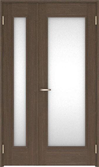 店舗受け取り限定 ハピアベイシス 親子ドア 21デザイン扉セット 2000高 空錠 ダルブラウン 鍵なし 大建工業の建具