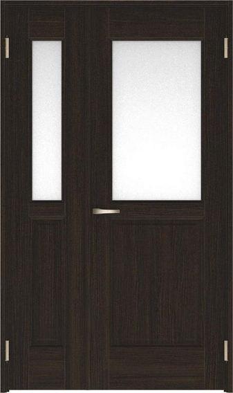 ハピアベイシス 親子ドア 55デザイン扉セット 2000高 空錠 オフブラック 鍵なし 大建工業の建具