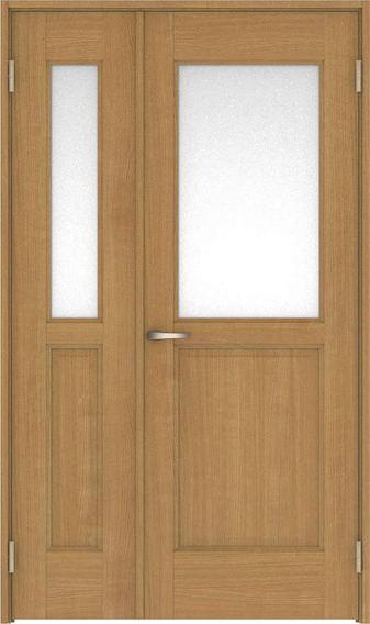 ハピアベイシス 親子ドア 55デザイン扉セット 2000高 空錠 ティーブラウン 鍵なし 大建工業の建具