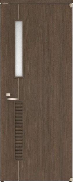 ハピアベイシス アウトセット開き戸 D6デザイン扉 2000高 835幅 錠付 ダルブラウン 大建工業の建具