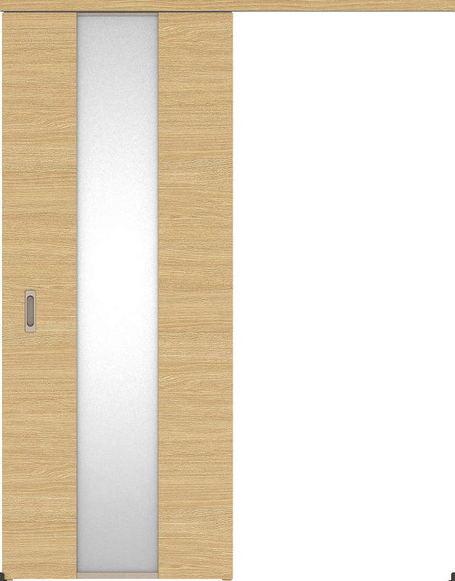 ハピアベイシス アウトセット吊戸・片引 Y5デザイン扉 2000高 835幅 カマ錠なし ライトオーカー 大建工業の建具