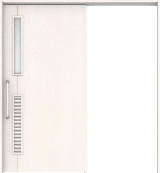 ハピアベイシス 巾広吊戸・片引 D6デザイン扉セット  1875幅 錠なし・明かり窓なし ネオホワイト 大建工業の建具