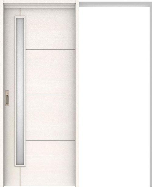 ハピアベイシス 吊戸・引込 D2デザイン扉セット 2000高 1645幅 ネオホワイト 大建工業の建具
