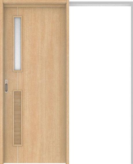 ハピアベイシス 吊戸・引込 D6デザイン扉セット 2000高 1645幅 ミルベージュ 大建工業の建具
