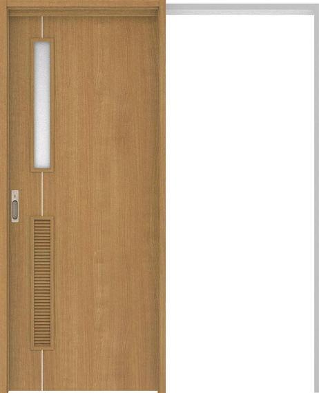 ハピアベイシス 吊戸・引込 D6デザイン扉セット 2000高 1645幅 ティーブラウン 大建工業の建具