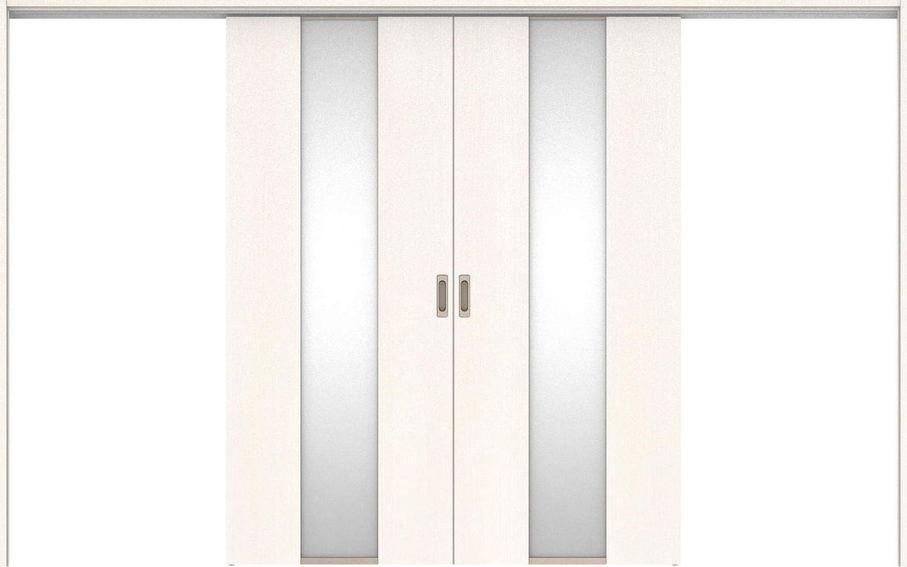 ハピアベイシス 吊戸・引分 G5デザイン扉セット 2000高 3255幅 ネオホワイト 大建工業の建具