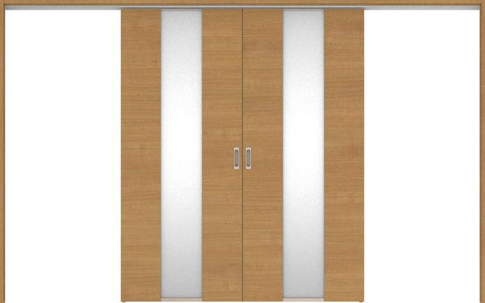 ハピアベイシス 吊戸・引分 Y5デザイン扉セット 2000高 3255幅 ティーブラウン 大建工業の建具