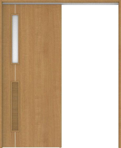 ハピアベイシス 吊戸・片引 D6デザイン扉セット  錠付・明かり窓なし ティーブラウン 大建工業の建具