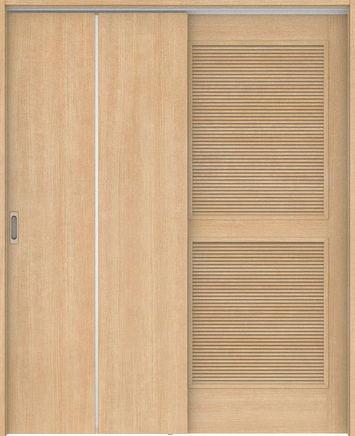 ハピアベイシス 通気吊戸 G7デザイン扉セット  錠付・明かり窓なし ミルベージュ 大建工業の建具