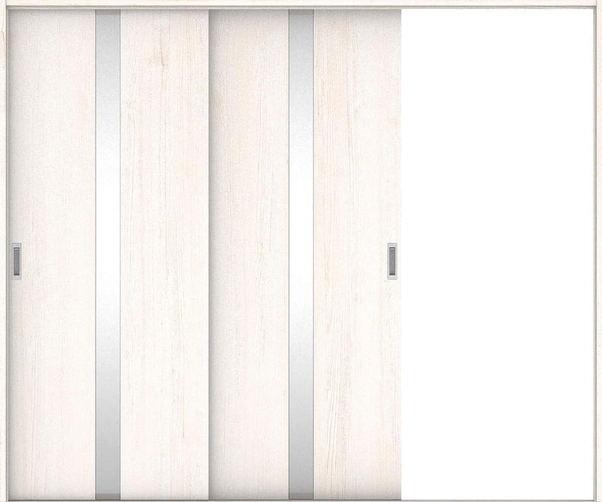 店舗受け取り限定 ハピアプレミア 引戸・2枚片引 0Cデザイン扉セット  2432幅 アッシュ柄(ネオホワイト) 大建工業の建具