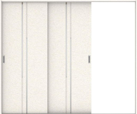 ハピアプレミア 引戸・2枚片引 7Pデザイン扉セット  2432幅 リアーピホワイト 大建工業の建具