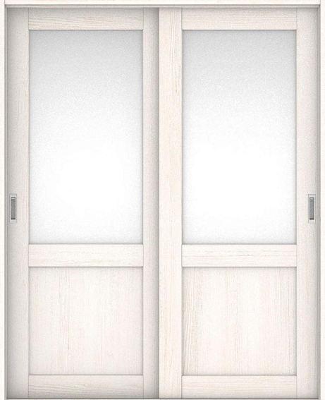 店舗受け取り限定 ハピアプレミア 引戸・引違 3Sデザイン扉セット  アッシュ柄(ネオホワイト) 大建工業の建具