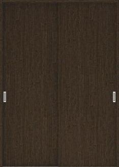 店舗受け取り限定 ハピアプレミア 引戸・引違 0Pデザイン扉セット  1745幅 アッシュ柄(オフブラック) 大建工業の建具