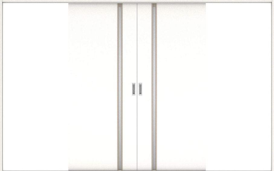 店舗受け取り限定 ハピアプレミア 引戸・引分 2Cデザイン扉セット  3255幅 モノホワイト柄 大建工業の建具