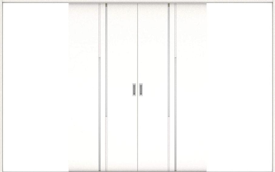 店舗受け取り限定 ハピアプレミア 引戸・引分 7Pデザイン扉セット  3255幅 モノホワイト柄 大建工業の建具