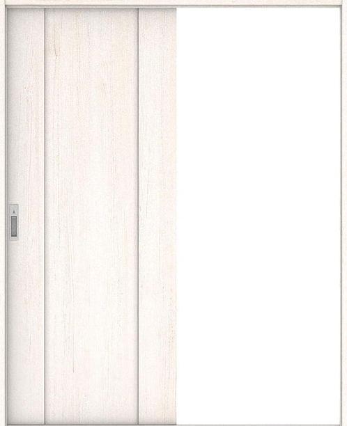 ハピアプレミア 引戸・片引 1Pデザイン扉セット  錠付・明かり窓なし アッシュ柄(ネオホワイト) 大建工業の建具