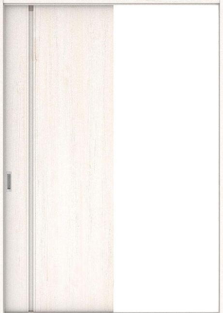 店舗受け取り限定 ハピア 引戸・片引 1Cデザイン扉セット  錠なし・明かり窓なし アッシュ柄(ネオホワイト) 大建工業の建具