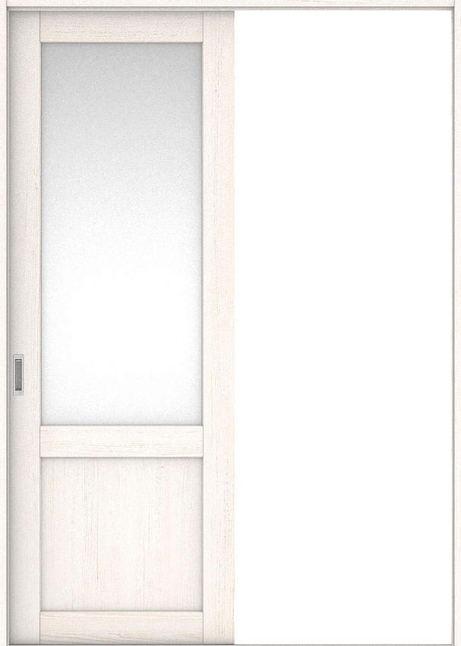 店舗受け取り限定 ハピア 引戸・片引 3Sデザイン扉セット  錠なし・明かり窓なし アッシュ柄(ネオホワイト) 大建工業の建具