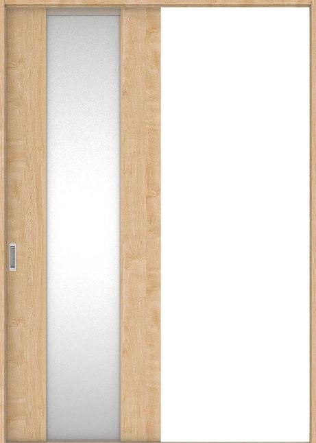 店舗受け取り限定 ハピア 引戸・片引 4Pデザイン扉セット  錠なし・明かり窓なし メープル柄(ミルベージュ) 大建工業の建具