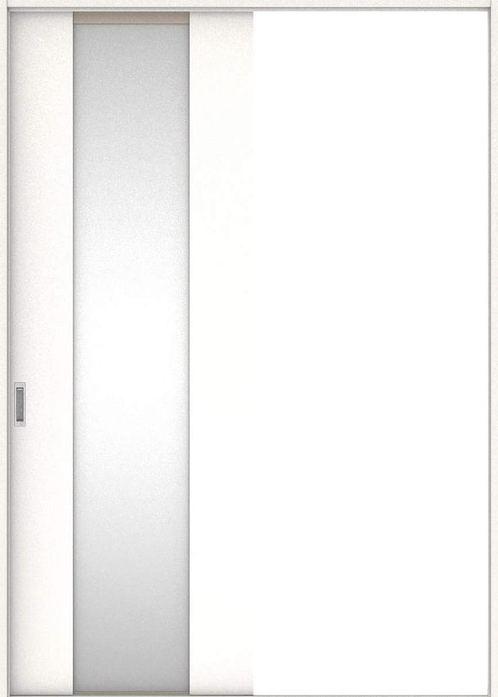 店舗受け取り限定 ハピア 引戸・片引 4Pデザイン扉セット  錠なし・明かり窓なし モノホワイト柄 大建工業の建具