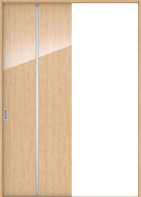 ハピアプレミア 引戸・片引 6Pデザイン扉セット  錠なし・明かり窓なし メープル柄(ミルベージュ) 大建工業の建具