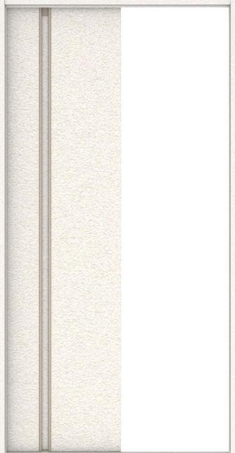 店舗受け取り限定 ハピアプレミア 引戸・巾狭片引 1Cデザイン扉セット  錠なし・明かり窓なし リアーピホワイト 大建工業の建具