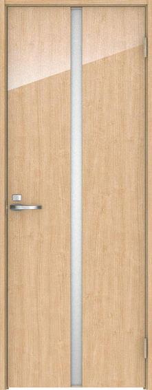 店舗受け取り限定 ハピア 片開きドア 2Pデザイン扉セット 2000高 メープル柄(ミルベージュ) 鍵付き 大建工業の建具