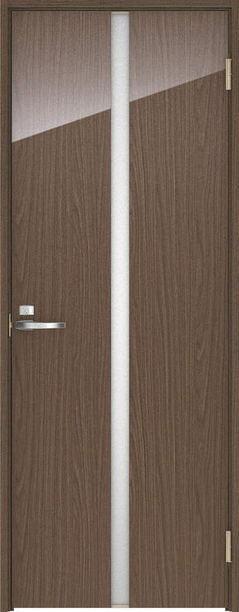 店舗受け取り限定 ハピア 片開きドア 2Pデザイン扉セット 2000高 ウォールナット柄(ダルブラウン) 鍵付き 大建工業の建具