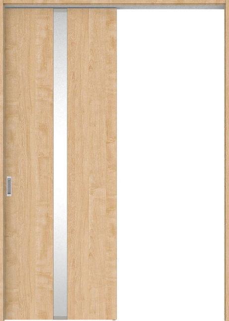店舗受け取り限定 ハピアプレミア 吊戸・片引 0Cデザイン扉セット  錠なし・明かり窓なし メープル柄(ミルベージュ) 大建工業の建具