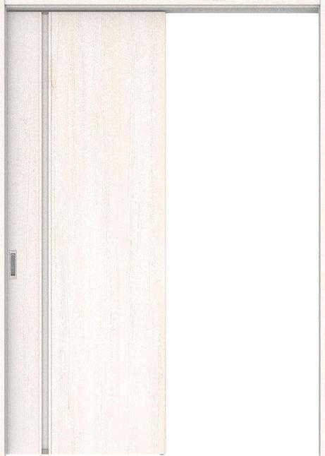 店舗受け取り限定 ハピアプレミア 吊戸・片引 1Cデザイン扉セット  錠なし・明かり窓なし アッシュ柄(ネオホワイト) 大建工業の建具