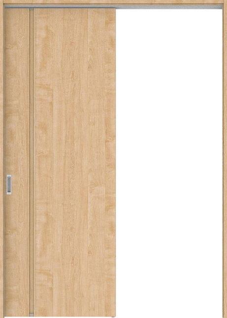 店舗受け取り限定 ハピアプレミア 吊戸・片引 1Cデザイン扉セット  錠なし・明かり窓なし メープル柄(ミルベージュ) 大建工業の建具