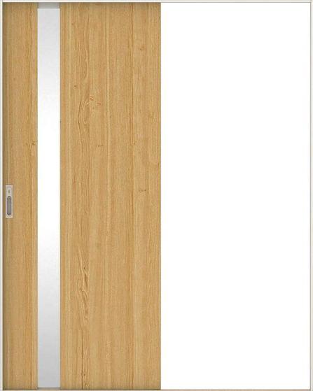 日本の樹 引戸・片引 4Jデザイン扉セット  錠付・明かり窓なし 栗 大建工業の建具