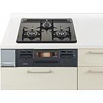 ガス W600ホーロートップ両面焼黒 パナソニック ラクシーナ リビングステーション リフォムスなどのキッチン周り商品 QSE W33N2J13A