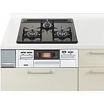 ガス W600ホーロートップ両面焼銀 パナソニック ラクシーナ リビングステーション リフォムスなどのキッチン周り商品 QSS W33N2JLP