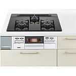 ガス W750ガラストップ両面焼銀 パナソニック ラクシーナ リビングステーション リフォムスなどのキッチン周り商品 QSS W33N4 WA13A