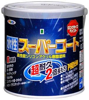 【2セット】アサヒペン 水性ス-パ-コート 緑塗料 0.7L