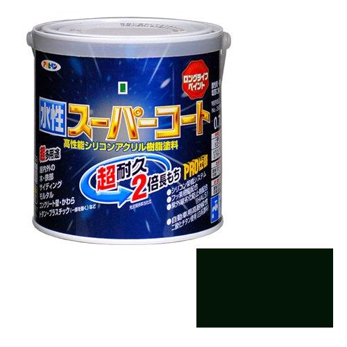 【2セット】アサヒペン 水性ス-パ-コート アイリッシュグリーン 塗料 0.7L