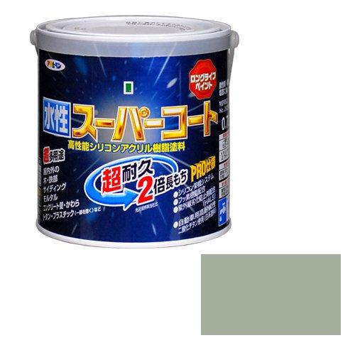 【2セット】アサヒペン 水性ス-パ-コート ソフトグレー塗料 0.7L