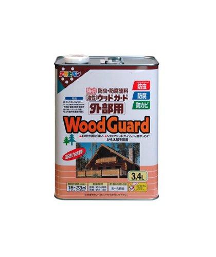 【2セット】アサヒペン 油性 ウッドガード外部用 ダークオーク 塗料 3.4L