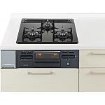 ガスコンロ W600ガラストップ片面焼黒 リビングステーション ラクシーナ等のパナソニック キッチン用 商品