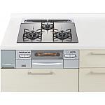 ★ガス W600ガラストップ両面焼連動銀 リビングステーション ラクシーナ等のパナソニック キッチン用 商品