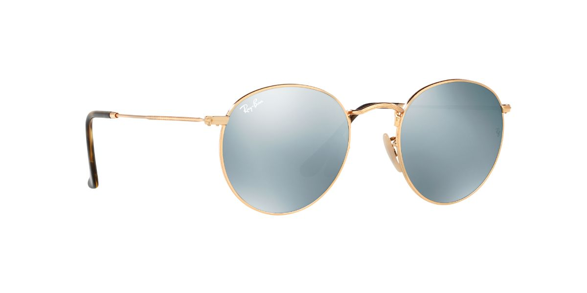 2b6229e3958 Ray-Ban RB3447N 001 30 001 30 50 size Ray-Ban new work round flat lens  silver flash RX3447N 001 30 sunglasses Lady s men