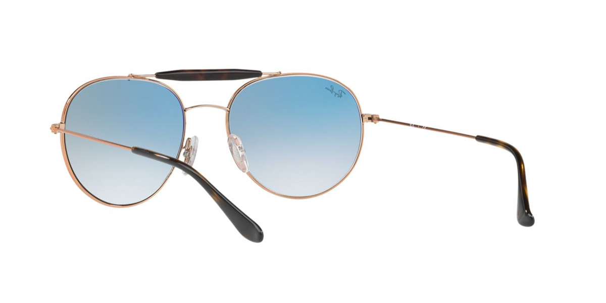 40bc1202bb RAYBAN Mens Designer Sunglasses Gold Round RB 3540 9035