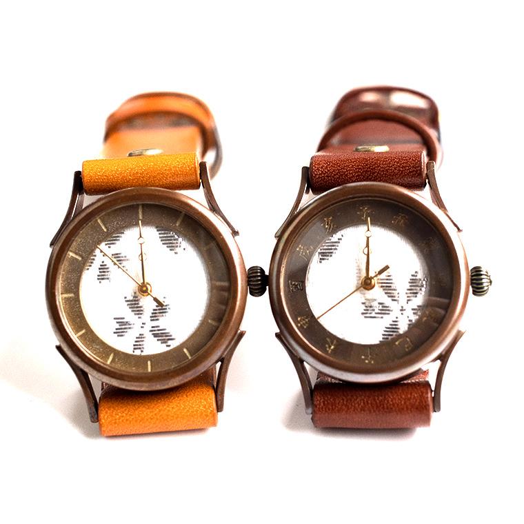 和tch レディース 西陣織腕時計 白色 ハンドメイド ウォッチ 日本製 メイドインジャパン 伝統工芸
