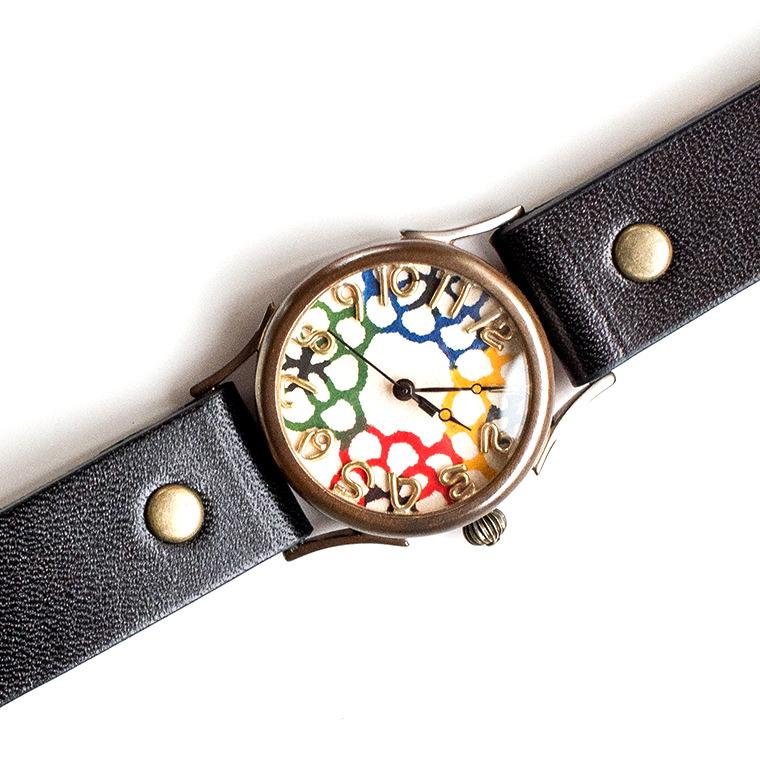 和tch レディース カラフル和紙文字盤腕時計 花4色 ハンドメイド ウォッチ 日本製 メイドインジャパン 伝統工芸 高級和紙